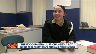 School food pantry helps teens and their families