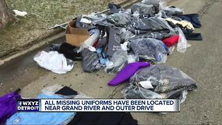 Police, fire uniforms recovered after being stolen from Detroit cleaner