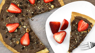 Quattro cioccolato dessert pizza recipe - Video