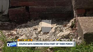 Elyria couple says someone removed their concrete stairs, damaged foundation and driveway - Video