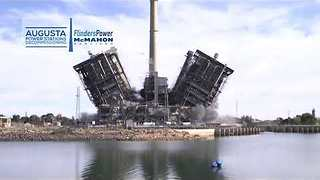 Coal-Fired Power Station in South Australia Demolished in Spectacular Fashion - Video