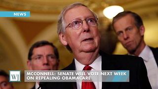 McConnell: Senate Will Vote Next Week On Repealing Obamacare - Video
