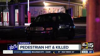 Woman hit, killed while crossing Phoenix street overnight