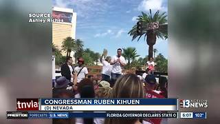 Congressman Ruben Kihuen at March for $15 - Video