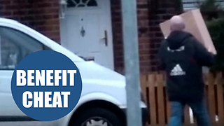 A man claiming more than £12,500 in disability benefits has been caught on camera - Video
