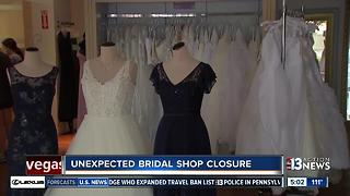 Employees caught off guard as bridal shop shuts down - Video