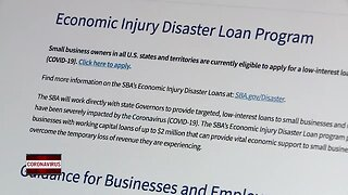 Disaster loans are being offered to small businesses