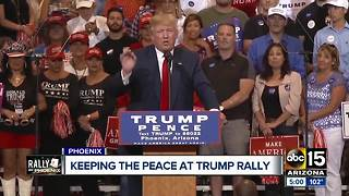 City of Phoenix prepping for President Trump's visit on Tuesday - Video