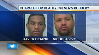 Two suspects charged with murder in deadly Culver's robbery - Video