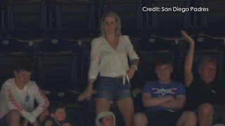 Dancing adults embarrass teen on Petco Park jumbotron