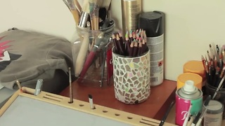 DIY disco brush holder