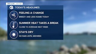 Drying out and less humid