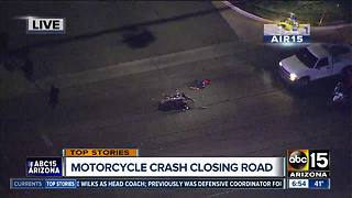 Motorcycle wreck shuts down road in Glendale - Video