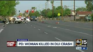 Suspected impaired driver kills woman in Phoenix