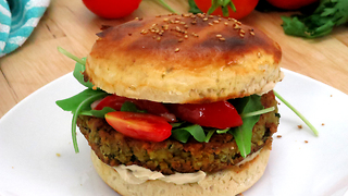 Delicious falafel burger recipe