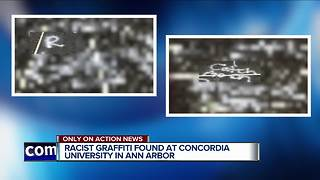 Racist graffiti found at Concordia University in Ann Arbor - Video