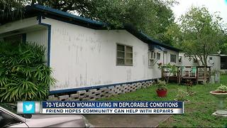 70-year-old woman living in deplorable conditions