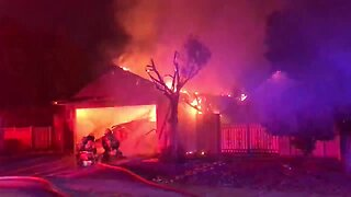 Garage collapses in eastside fire