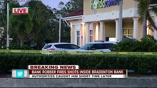 Man fires shots from semi-automatic during bank robbery in Bradenton - Video