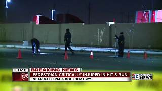 Pedestrian critically injured in hit-and-run crash - Video