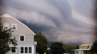 Shelf Cloud Moves Over Cape May as Thunderstorms Hit New Jersey - Video