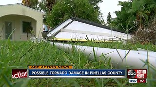 Winds damage home in Pinellas County