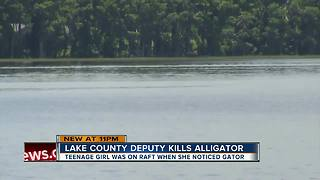 Florida teen chased up tree by alligator saved by hero deputy - Video