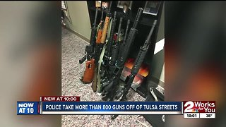 TPD Special Investigation Unit takes more than 800 guns off Tulsa streets