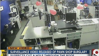 Surveillance video released of pawn shop burglary