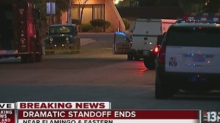Hostage escapes standoff by jumping out 2nd story window - Video