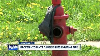 Broken hydrants cause issues fighting fire - Video
