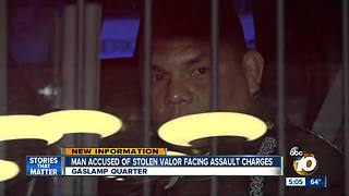 Man accused of stolen valor facing assault charges