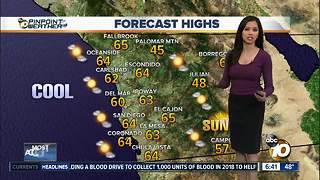 10News Pinpoint Weather for Sun. Jan. 21, 2018 - Video