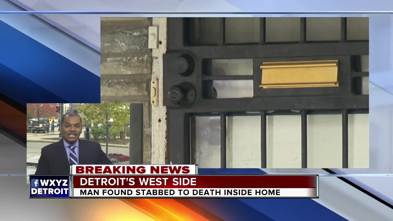 Man found stabbed to death inside a home on Detroit's west side