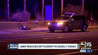 Uber reaches settlement in deadly pedestrian crash - Video