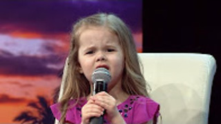 HOW FAR I'LL GO - DISNEY'S MOANA - LIVE PERFORMANCE BY 4-YEAR-OLD CLAIRE RYANN AT CHARITY - Video