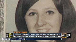 43 years later, still no arrests after wife stabbed, killed inside Severn home - Video