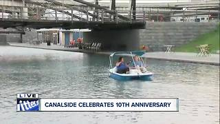 Celebrating Canalside's future with historic spot