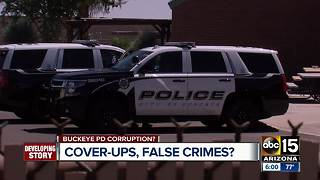 Cover-ups and false crimes alleged inside the Buckeye Police Department - Video
