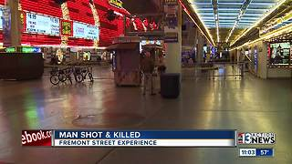 Woman talks about shooting on Fremont Street - Video
