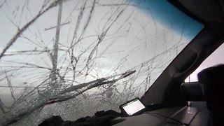 Caught On Camera: Storm Chasers' Windscreen Smashed In Tornado - Video