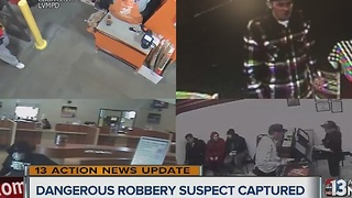 UPDATE: Police capture dangerous robbery suspect - Video