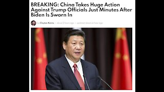 China Takes Huge Action Against Trump Officials Just Minutes After Biden Is Sworn In