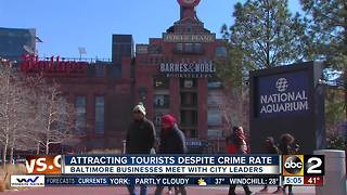 Baltimore businesses work to attract visitors despite crime rate - Video