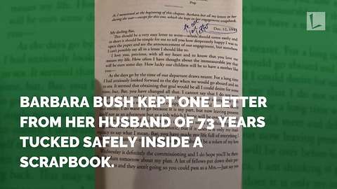 The 1 Love Letter Barbara Bush Kept from George HW During WWII is Heartbreaking