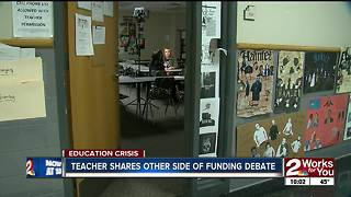 Tulsa teacher shows side of statewide education funding debate that most people don't see - Video