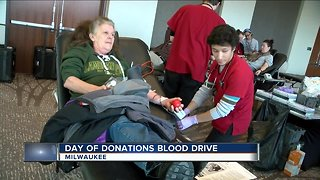 Day of Donations blood drive in Milwaukee