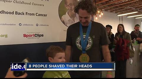 Boise residents shave head for good cause