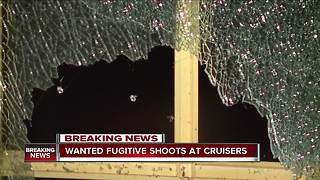 Wanted Fugitive shoots at cruisers - Video