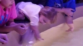 Stingray Jumps Into Little Girl's Arms